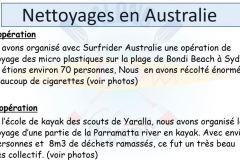 bilan-nettoyage en Australie
