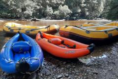 Les rafts prets au départ